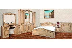 Модульная Спальня Анастасия 4х дверная Крем - Мебельная фабрика «Кубань-Мебель»