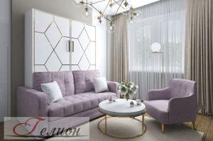 Шкаф-кровать Вертикаль с диваном - Мебельная фабрика «ГЕЛИОН»