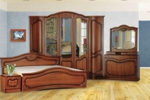 Модульная Спальня Анастасия 5-дверная - Мебельная фабрика «Кубань-Мебель»