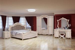 Модульная Спальня Кассандра Ваниль - Мебельная фабрика «Кубань-Мебель»