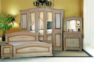 Модульная Спальня Венера 5-дверная Крем - Мебельная фабрика «Кубань-Мебель»