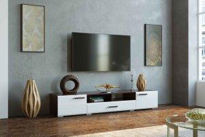 Тумба ТВ Ларго венге/белый глянец - Мебельная фабрика «CASE»