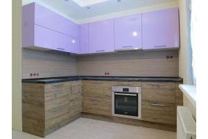 Красивая сиреневая кухня - Мебельная фабрика «Проспект мебели»