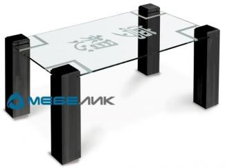 Стол журнальный Приз 2Н венге прозрачное с иероглифом - Мебельная фабрика «Мебелик»