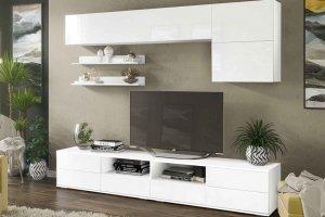 Гостиная Тренто белый/белый глянец - Мебельная фабрика «CASE»