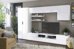 Гостиная Тренто шкаф белый/белый глянец - Мебельная фабрика «CASE»