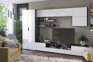 Гостиная Тренто шкаф венге/белый глянец - Мебельная фабрика «CASE»
