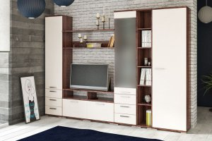 Модульная гостиная Вейла К-08 Орех Каннеро/Песочный матовый - Мебельная фабрика «7А»
