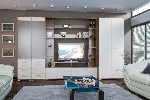 Модульная гостиная Вейла К-07 Орех Каннеро/Песочный матовый - Мебельная фабрика «7А»