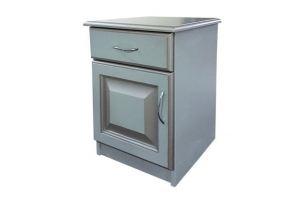 Тумбочка классика серый с серебряной патиной - Мебельная фабрика «Кедр-М»