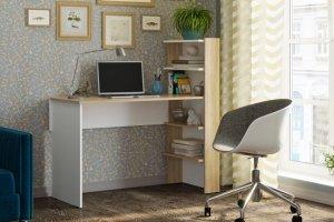 Компьютерный стол 3 дуб сонома/белый - Мебельная фабрика «CASE»