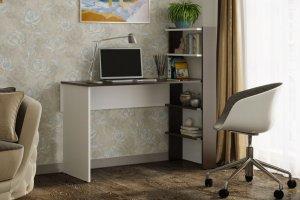Компьютерный стол 3 венге/белый - Мебельная фабрика «CASE»
