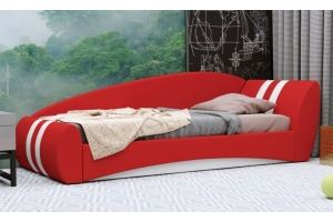 Красная детская кровать Гольф - Мебельная фабрика «Нижегородмебель и К (НиК)»