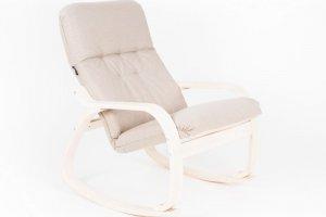 КРЕСЛО-КАЧАЛКА САЙМА ткань миндаль, каркас береза белая - Мебельная фабрика «Мебелик»
