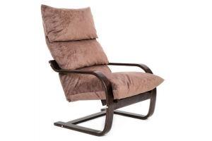 Кресло Онега 1 ткань капучино, каркас венге - Мебельная фабрика «Мебелик»