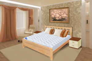 Кровать на металлокаркасе Прага - Мебельная фабрика «РуСон - Прайм»