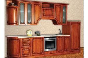 Кухня Изабель - 2 радиусная Орех - Мебельная фабрика «Кубань-Мебель»