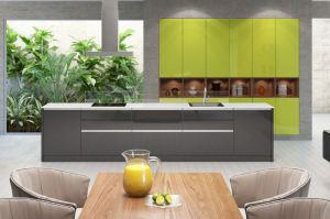 Кухня Лаката Лайм - Мебельная фабрика «Молчанов»