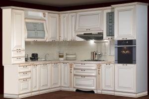 Кухня Сан-Марино 2250х3000 Эмаль Крем - Мебельная фабрика «Кубань-Мебель»