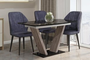 Кухонный стол Фантазия черный - Мебельная фабрика «А-Элита»