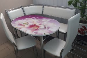 Обеденная группа-3 со Столом-1 и стульями Лорд - Мебельная фабрика «ИЛ МЕБЕЛЬ»