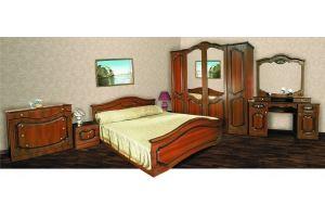 Модульная Спальня Анастасия 4х Орех - Мебельная фабрика «Кубань-Мебель»