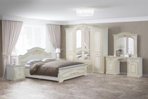 Модульная Спальня Деметра Слоновая Кость - Мебельная фабрика «Кубань-Мебель»