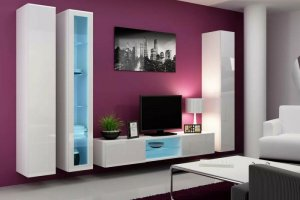 Глянцевая гостиная подвесная Нео 2 - Мебельная фабрика «Альфа-М»