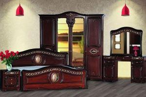 Модульная Спальня Азалия Орех 1800х2000 - Мебельная фабрика «Кубань-Мебель»