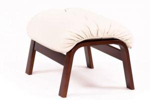 Пуф  Альбано эко-кожа крем, каркас вишня - Мебельная фабрика «Мебелик»