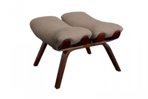 Пуф Ессей ткань какао, каркас вишня - Мебельная фабрика «Мебелик»