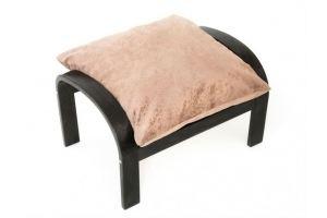 Пуф Онега ткань капучино, каркас венге - Мебельная фабрика «Мебелик»