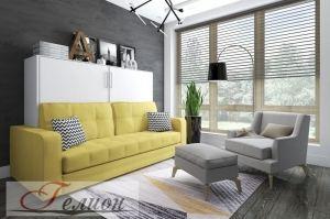 Шкаф-кровать Горизонталь с диваном - Мебельная фабрика «ГЕЛИОН»