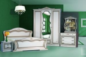 Спальня Катрин 3-дверная Белая - Мебельная фабрика «Кубань-Мебель»