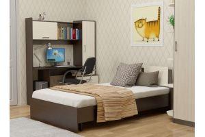 Спальный гарнитур для подростка (кровать ТАНГО 120, стол РУБИН) - Мебельная фабрика «Гайвамебель»