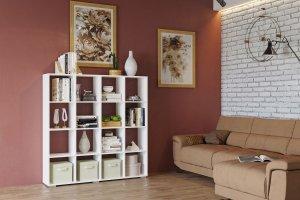 Стеллаж 3 белый - Мебельная фабрика «CASE»