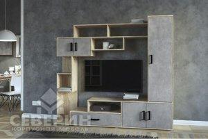 Гостиная Берта бетон - Мебельная фабрика «Северин»