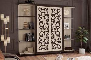 Шкаф в гостиную Валенсия венге - Мебельная фабрика «Аквилон»