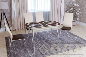 Стол стеклянный раздвижной Квадро - Мебельная фабрика «ВВР»