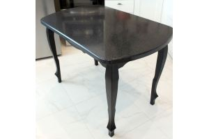 Стол 4 столешница из камня - Мебельная фабрика «Мир камня»