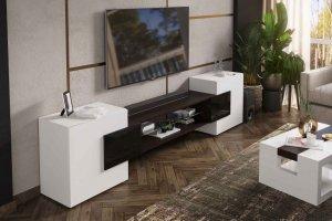 Тумба ТВ Инкастро белый/черный глянец - Мебельная фабрика «CASE»