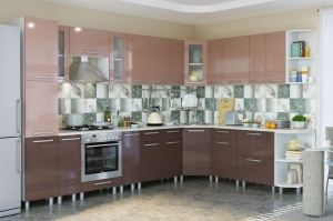Кухня Пелагея Кофе глянец - Мебельная фабрика «Гермес»