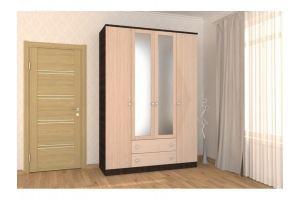 Вместительный шкаф 4-х дверный с двумя ящиками - Мебельная фабрика «Гермес»