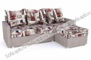 Угловой диван с подушками, велюр Лондон - Мебельная фабрика «Софа»