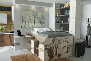 Кровать-гардероб БитБокс - Мебельная фабрика «7А»