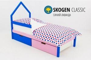 Детская кровать-домик мини Skogen синий-лаванда - Мебельная фабрика «Бельмарко»