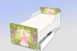Детская кровать с фотопечатью Принцесса - Мебельная фабрика «Рим»
