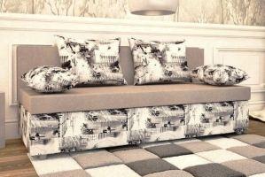 Диван еврокнижка в ткани Микровелюр - Мебельная фабрика «Раевская»
