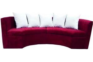 Диван красный полукруг 121 - Мебельная фабрика «Мега-Проект»