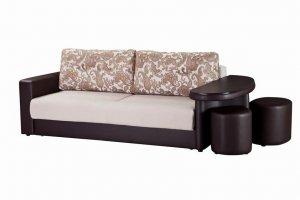 Диван-кровать Сантана 4 со столиком и пуфами - Мебельная фабрика «Новый век»